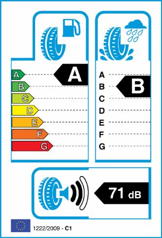 CONTINENTAL ECO CONTACT 6 215/50-18 EU Label