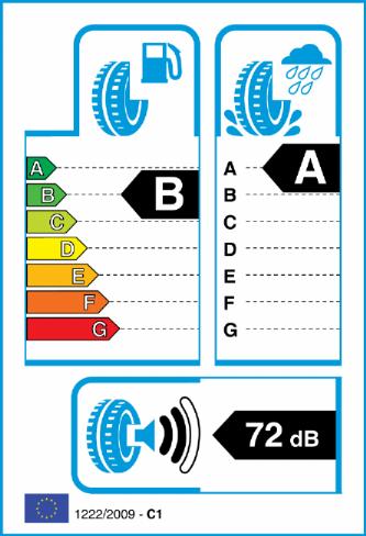 BRIDGESTONE T005 255/35-19 EU Label