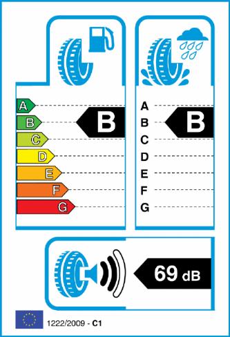 HANKOOK K117 VENTUS S1 EVO 2 225/50-17 EU Label