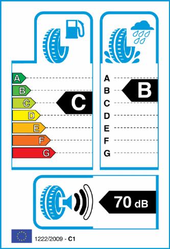BRIDGESTONE T001 225/50-17 EU Label