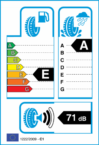 HANKOOK K117A VENTUS S1 EVO2 235/60-18 EU Label