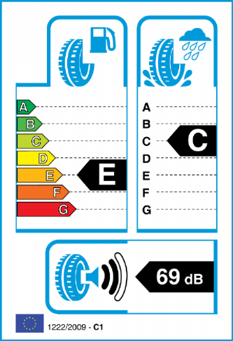 BRIDGESTONE D33 235/55-20 EU Label