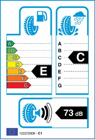 CONTINENTAL CROSS CONTACT WINTER 255/50-20 EU Label